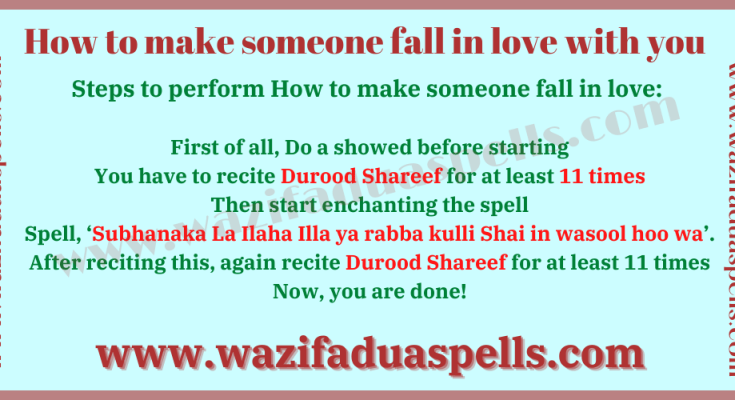How to make someone fall in love