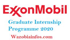 Exxon Mobil Nigeria Graduate Internship Programme 2020