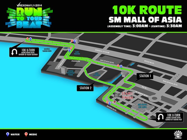 rexona run 2014 run to your beat registration map 5k 10k 21k-