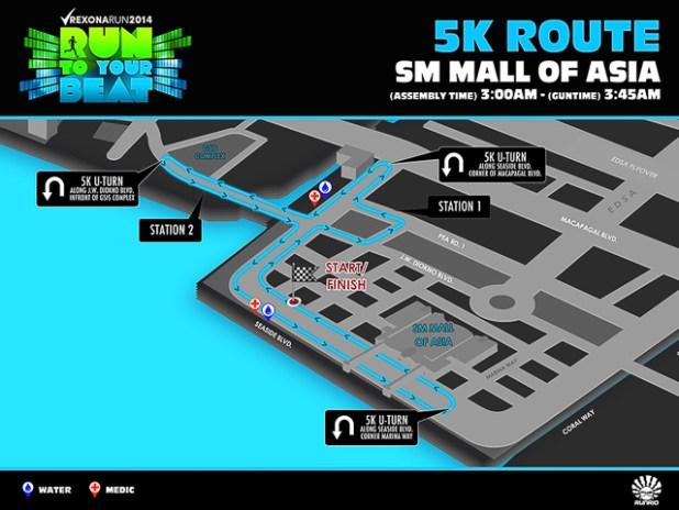 rexona run 2014 run to your beat registration map 5k 10k 21k--3