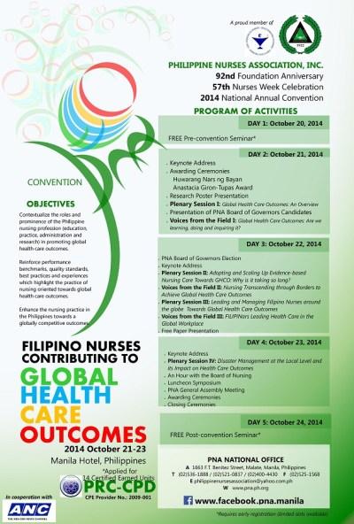 philippine nurses association flyer