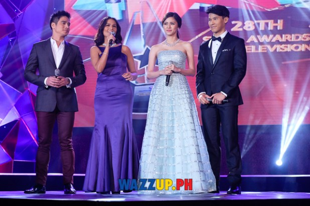 Hosts Piolo Iza Kim Enchong - 28th PMPC Star Awards for Television 2014-0049