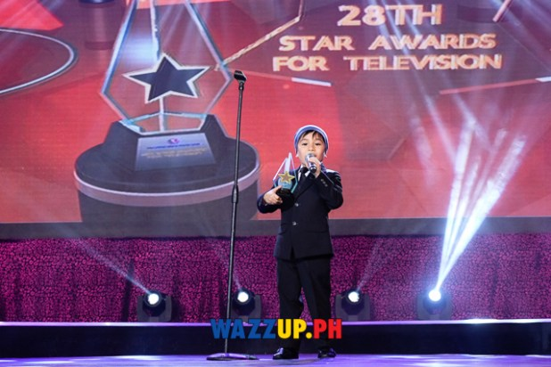 Raikko Mateo for Honesto - Best Child Performer - 28th PMPC Star Awards for Television 2014-0470