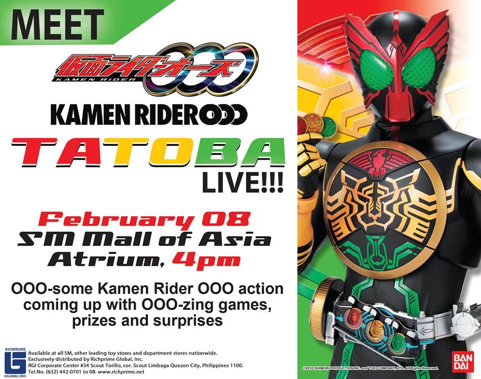 Kamen Rider OOO Meet and Greet at SM MOA – Wazzup PH