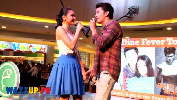 Nadine Lustre and James Reid jadine fever tour Fisher Mall