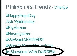 its showtime with darren trending