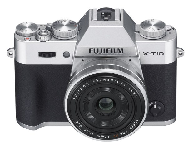 Fujifilm X-T10 silver Body with 27mm pancake lens