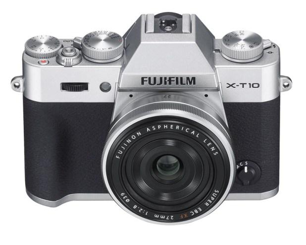 Fujifilm X-T10 silver Body with 27mm pancake lens