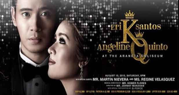King and Queen Concert at Araneta Erik Santos Angeline Quinto poster