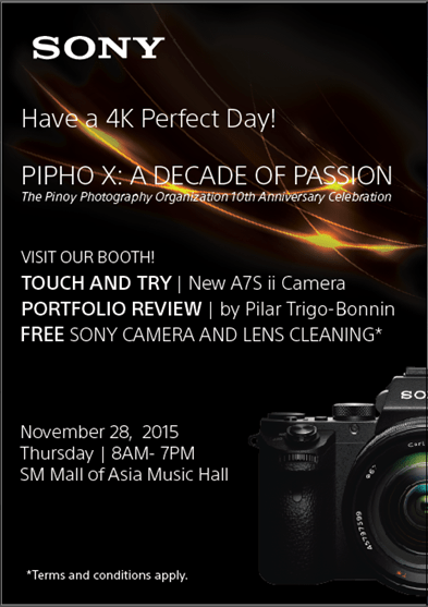 Pinoy Photography PIPHO Sony Poster x