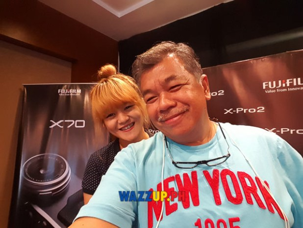 Photo ops with Xyza Cruz Bacani at the Fujifilm X-Pro2 X-E2s X70 Launch