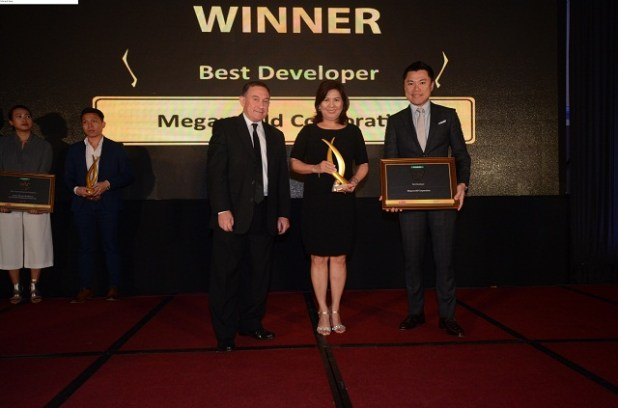 Megaworld Corporation won the Best Developer (Philippines) award, plus 3 others and 13 Highly Commended. The Best Developer award was presented by Lindsay J Orr, country head of Jones Lang LaSalle Philippines and chairman of the judging panel.