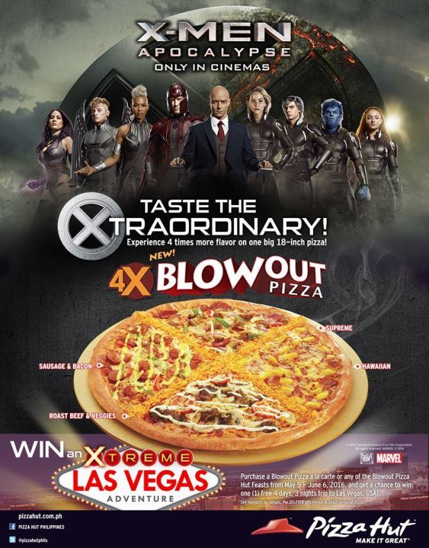pizza hut x men apocalypse las vegas extreme promo
