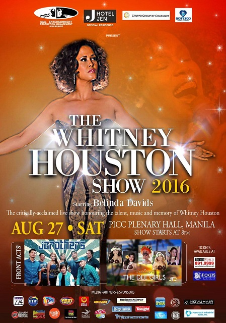The Whitney Houston Show 2016 Manila Philippines starring Belinda Davis PICC August