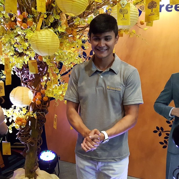 Matteo Guidicelli at the Sunlife Prosperity Card Launch