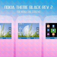 Nokia theme black for C3-00, X2-01 s406th 320x240