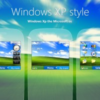 Windows XP original style swf theme C3-00 X2-01 302 200 201 210 205