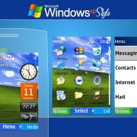 Windows xp style swf theme X2-00 515 301 Asha 206 207