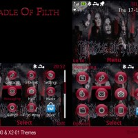 Nokia C3-00 X2-01 theme Cradle Of Filth