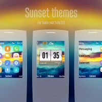 Sunset theme for C2-01 X2-00 240x320 s40