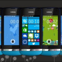 Fake Windows phone 8 series theme Asha 310 305 full touch