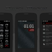 Dark brush metal theme asha full touch