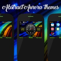 Abstract aurora theme Asha 210 205 302 320x240 s40