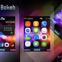 Rainbow bokeh theme Asha 206 207 208 s40 240x320