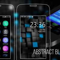 Abstract black cubes theme s40 240×400 Asha 311 305 full touch UI