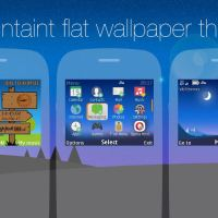 Mountaint flat wallpaper with battery and signal indicator