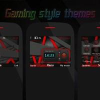 Gaming style swf clock widget theme Asha 302 X2-01 C3-00