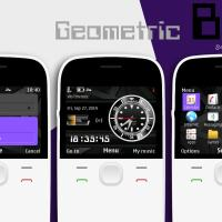 Geometric black battery and signal indicator theme X2-01 C3-00