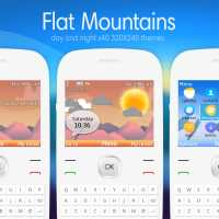 Flat mountains swf day and night animated theme X2-01 C3-00
