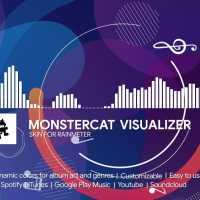 Monstercat Visualizer skin for Rainmeter