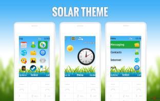Solar swf live theme theme nokia X2-00 X2-05 6300 5310 5610 Asha 206