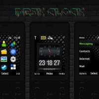 Desktop clock flash lite theme X2-00 X3-00 X2-02 s40 240x320