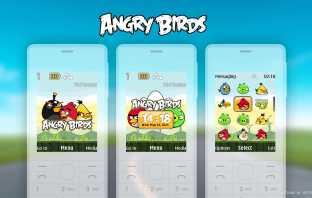 Angry Birds digital clock flash lite wallpaper theme X2-00 X2-05 Nokia 206 6300