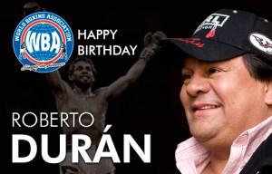 Congratulations to Roberto Duran