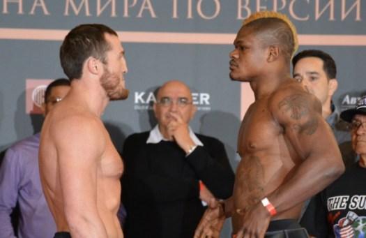 Photos: Lebedev-Kalenga weigh-in