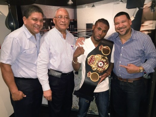 Nicholas Walters travels with his super championship belt to NY