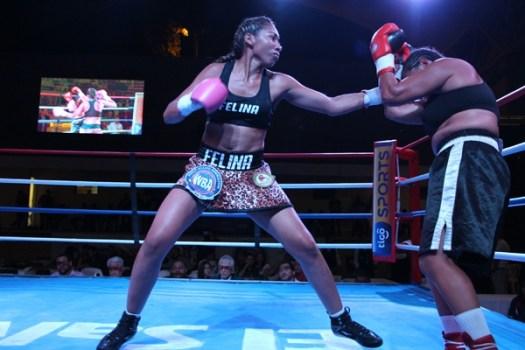 La Felina Borbua venció a Barquero en primera pelea internacional