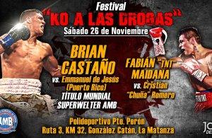 KO a las Drogas en Argentina en pro del boxeo regional