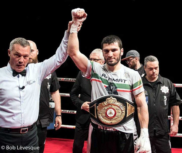Artur Beterbiev TKO'd Isidro Prieto in the first round. (Photo: Bob Levesque/Photo Zone Sport)