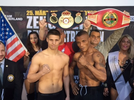 Zeuge and Ekpo weighed in and are ready to fight