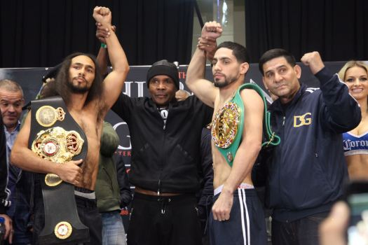 Thurman and Garcia are on weight and ready to go in the ring