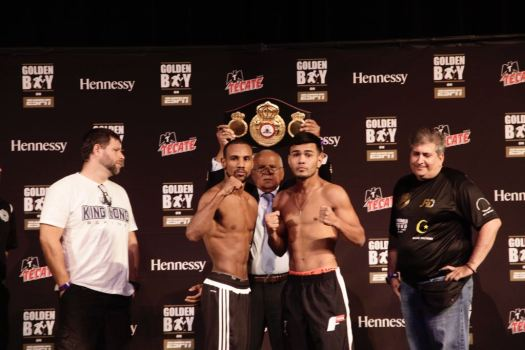 Marrero and Rojas for the WBA Interim Featherweight title this Friday in Las Vegas