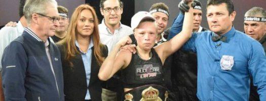 Irma Sánchez, new WBA Interim Flyweight Champion .