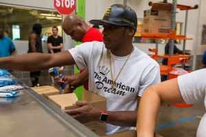 Lara Briefly Splits From Training Camp For Relief Efforts