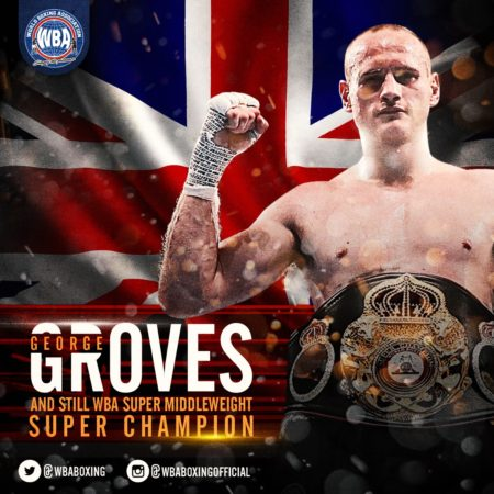 Groves retains WBA Super Champion title with KO of Cox.