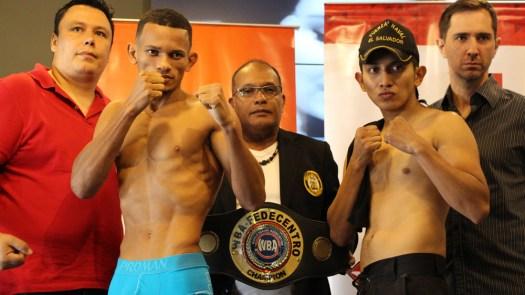 Coronado y Flores dieron el peso para combatir por título Fedecentro.